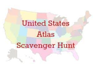 United States Atlas Scavenger Hunt [FREE Printable]