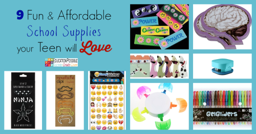 9 Fun & Affordable School Supplies your Teen will Love @Education Possible