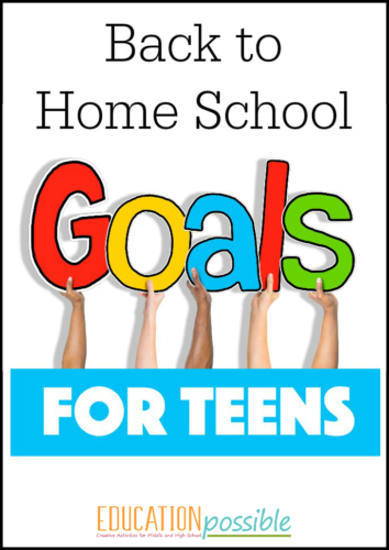 Helping teens set goal for the new school year.