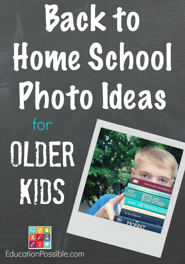 Back to home school photo ideas for older kids - Education Possible
