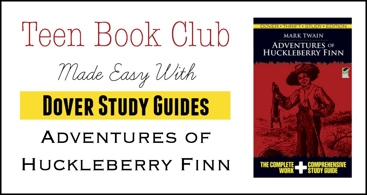teen book club made easy dover study guides adventures of teen book club adventures of huckleberry finn education possible