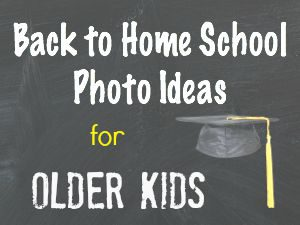 Back to Homeschool Photo Ideas for Older Kids - Education Possible
