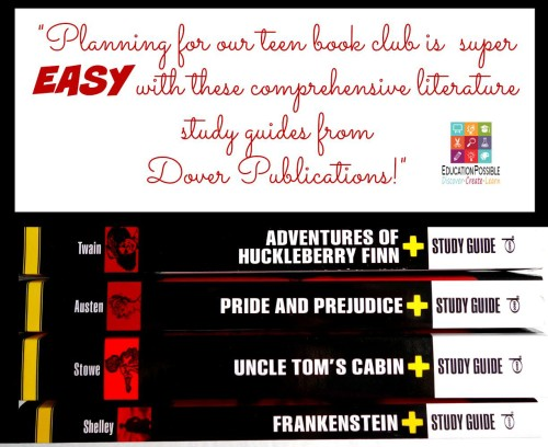 Planning for our teen book club is easy with Dover Study Guides - Education Possible