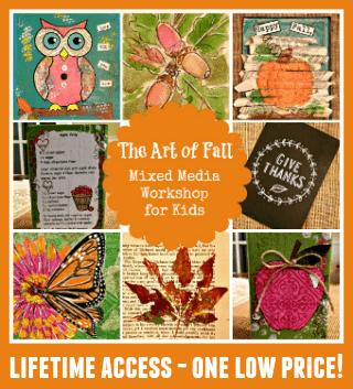 Art of fall mixed media widget