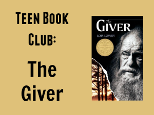 Teen Book Club Ideas The Giver featured