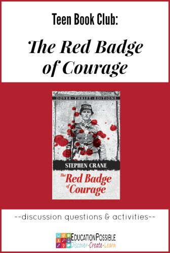 Teen Book Club Ideas: The Red Badge of Courage @education possible