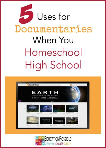 When kids get to the high school years they  become more independent learners. To make the most of their learning experiences, it's important to help them find quality resources to guide their studies. We love using educational videos and documentaries in our homeschool. Here are 5 reasons you should use documentaries for homeschooling high school.