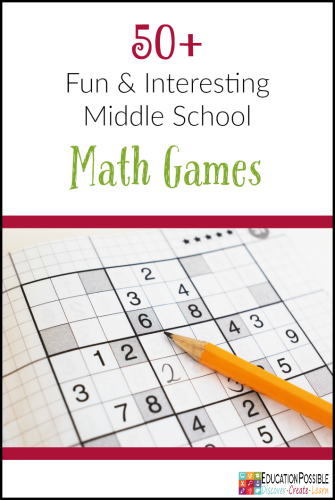 Fun math games for middle school students