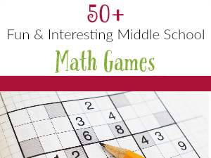 50+ Fun and Interesting Middle School Math Games Fetured
