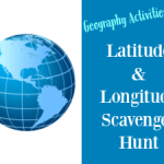 Geography Activities: Latitude and Longitude Scavenger Hunt [free printable]