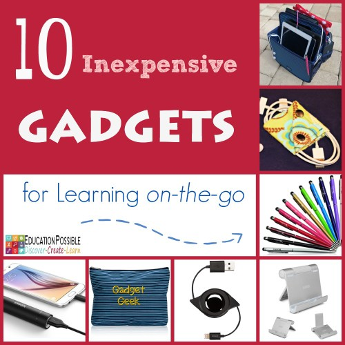 10 Inexpensive Gadgets for Learning on the go - Education Possible. Over the years my older kids have discovered a few clever and inexpensive gadgets they can't live without. If your teen is using electronics to help with school work, here are our top 10 electronic gadgets for learning on-the-go! Great ideas for gifts for the teens in your life!!