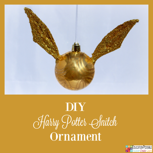 DIY Harry Potter Golden Snitch Ornament. 5 Homemade Christmas Ornaments Teens will want to Make. This season, add these to your ornament collection – they're all teen friendly, cost effective and will take little time to complete. DIY crafts - a great idea for gifts your middle school kids can create.