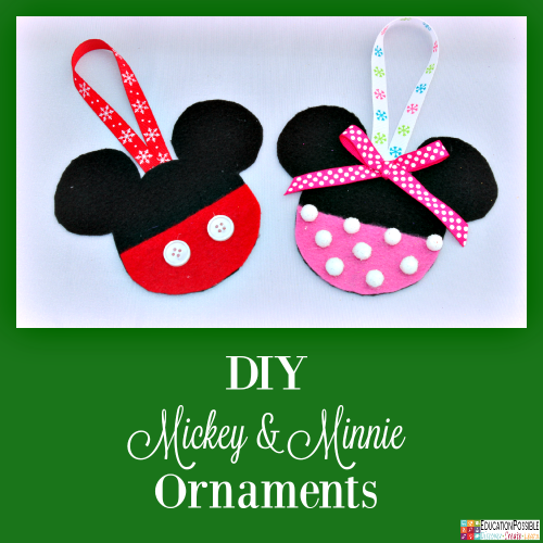DIY Mickey & Minnie Disney Ornaments. 5 Homemade Christmas Ornaments Teens will want to Make. This season, add these to your ornament collection – they're all teen friendly, cost effective and will take little time to complete. DIY crafts - a great idea for gifts your middle school kids can create.