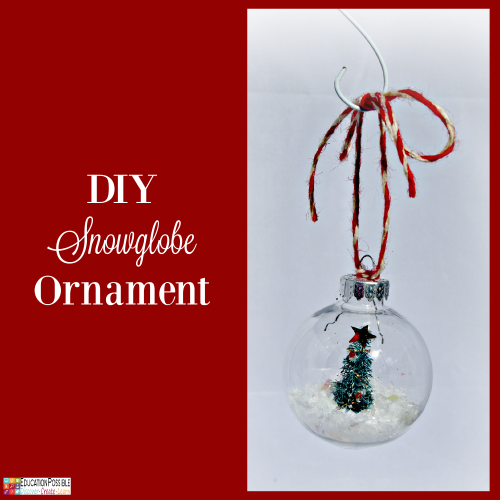 DIY Snowglobe Ornament. 5 Homemade Christmas Ornaments Teens will want to Make. This season, add these to your ornament collection – they're all teen friendly, cost effective and will take little time to complete. DIY crafts - a great idea for gifts your middle school kids can create.