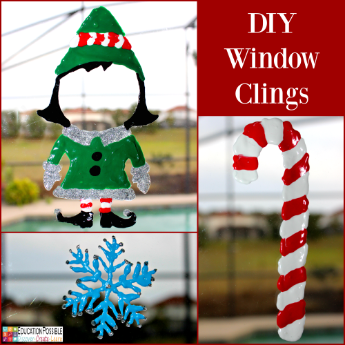 DIY Window Clings. 5 DIY Christmas Crafts for Teens that they'll Enjoy Creating These crafts are teen tested - they were all chosen and created by my middle schoolers. Hopefully, you have as much fun working together to make these decorations as we did. Creative projects - great DIY craft idea to do with your older kids - and perfect for gifts if you want to make extras.