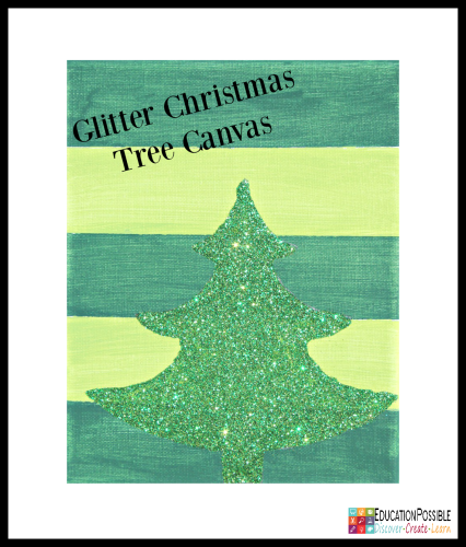 Glitter Christmas Tree Canvas. 5 DIY Christmas Crafts for Teens that they'll Enjoy Creating These crafts are teen tested - they were all chosen and created by my middle schoolers. Hopefully, you have as much fun working together to make these decorations as we did. Creative projects - great DIY craft idea to do with your older kids - and perfect for gifts if you want to make extras.