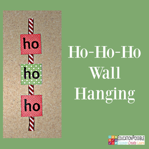 Ho-Ho-Ho Wall Hanging. 5 DIY Christmas Crafts for Teens that they'll Enjoy Creating These crafts are teen tested - they were all chosen and created by my middle schoolers. Hopefully, you have as much fun working together to make these decorations as we did. Creative projects - great DIY craft idea to do with your older kids - and perfect for gifts if you want to make extras.