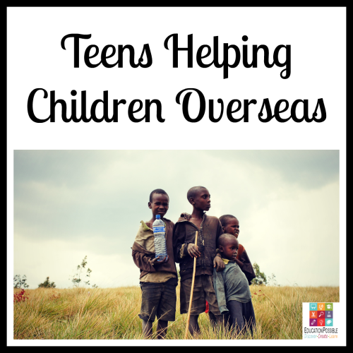 Teens Helping Children Overseas. 5 Ways Teens Can Make a Difference in the World The Christmas season is about giving, which makes it the perfect time to encourage your teen to think of others and give back. To make a meaningful difference. Now that our kids are older, there are more opportunities for them to volunteer and support a cause they believe in. It's our job to help them find a place that will accept them (based on the hours they can be there and their age) that matches their passion.