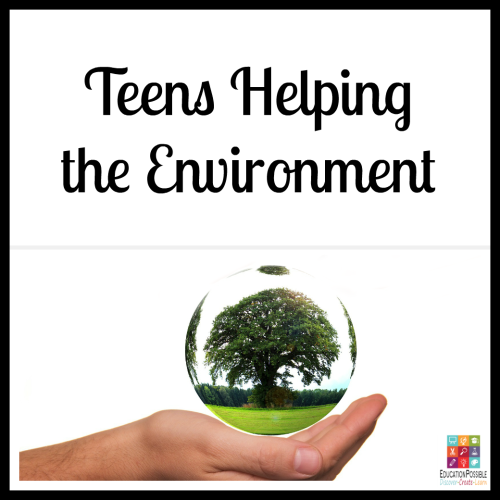 Teens Helping the Environment. 5 Ways Teens Can Make a Difference in the World helping the environment 5 Ways Teens Can Make a Difference in the World The Christmas season is about giving, which makes it the perfect time to encourage your teen to think of others and give back. To make a meaningful difference. Now that our kids are older, there are more opportunities for them to volunteer and support a cause they believe in. It's our job to help them find a place that will accept them (based on the hours they can be there and their age) that matches their passion.