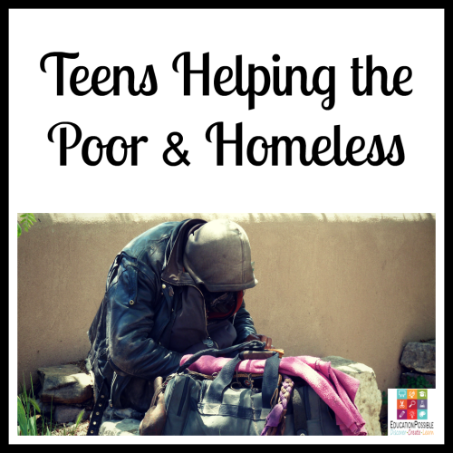 5 Ways Teens Can Make a Difference in the World helping the poor and homeless. 5 Ways Teens Can Make a Difference in the World The Christmas season is about giving, which makes it the perfect time to encourage your teen to think of others and give back. To make a meaningful difference. Now that our kids are older, there are more opportunities for them to volunteer and support a cause they believe in. It's our job to help them find a place that will accept them (based on the hours they can be there and their age) that matches their passion.