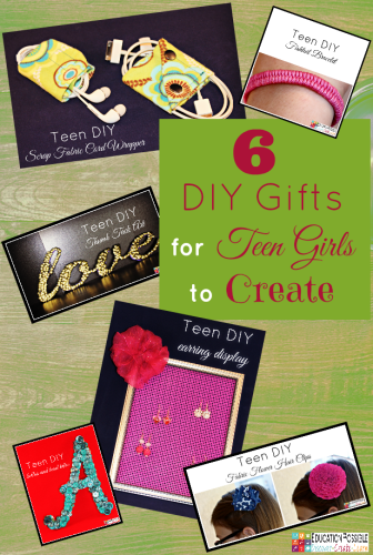 Middle School Girls: Fast and Easy DIY Gifts to Make for your Friends. Perfect for Christmas, birthdays, or just because. A bracelet, hair flowers, wall art, cord wrappers, and an earring display. Teens and tweens will love making these DIY crafts - a great idea for gifts.