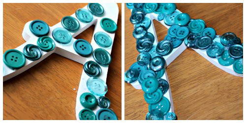 Teen DIY Button and Bead Letter. Middle School Girls: Fast and Easy DIY Gifts to Make for your Friends. Perfect for Christmas, birthdays, or just because. A bracelet, hair flowers, wall art, cord wrappers, and an earring display. Teens and tweens will love making these DIY crafts - a great idea for gifts.