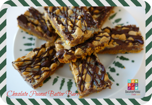 Chocolate Peanut Butter Bars - Education Possible 5 Easy Holiday Desserts for Teens to Make (and EAT!) - Education Possible If you need to make a dessert to take to a family gathering or get-together with friends, why not delegate the task to your teen. The holidays are the perfect time to get your teens in the kitchen and let them put their creativity to work! Easy recipe idea and perfect for holiday gifts that your older kids can create and give to their friends.
