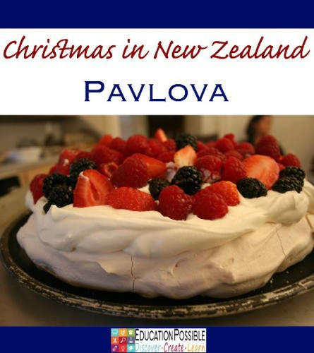 Pavlova  Holiday Foods from Around the World - Education Possible One of our favorite traditions is to expand our Geography lessons to include learning about holiday customs and activities around the world. We use crafts, field trips, and of course FOOD to bring our learning to life! Inspire your teen to travel without leaving home. You might find some gifts you can make and give to friends and family this season.
