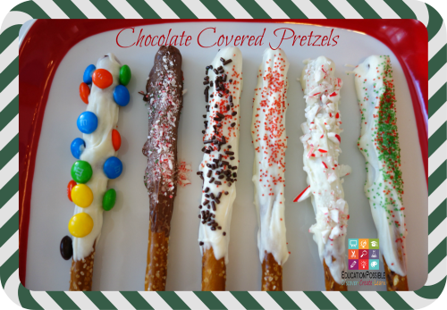 Chocolate Covered Pretzels - Education Possible 5 Easy Holiday Desserts for Teens to Make (and EAT!) - Education Possible If you need to make a dessert to take to a family gathering or get-together with friends, why not delegate the task to your teen. The holidays are the perfect time to get your teens in the kitchen and let them put their creativity to work! Easy recipe idea and perfect for holiday gifts that your older kids can create and give to their friends.