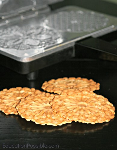 Pizzelle Cookie Recipe for Teens  Holiday Foods from Around the World - Education Possible One of our favorite traditions is to expand our Geography lessons to include learning about holiday customs and activities around the world. We use crafts, field trips, and of course FOOD to bring our learning to life! Inspire your teen to travel without leaving home. You might find some gifts you can make and give to friends and family this season.