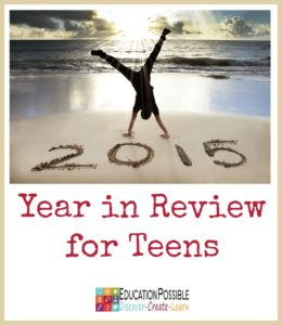 2015 Year in Review for Teens [Free Printable]