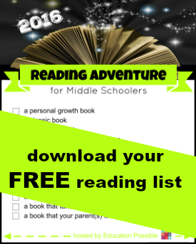 2016 Reading Adventure for Middle Schoolers