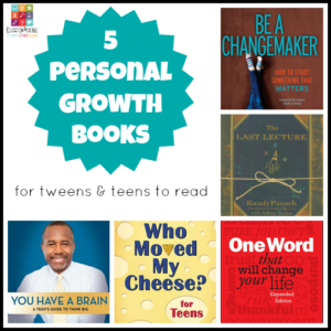 5 Personal Growth Books Appropriate for Tweens & Teens To start off the 2016 Reading Adventure, I've decided to start off with personal growth. As adults, we're very familiar with the personal growth/personal improvement genre, but we don't always think about it for our kids. But they're trying to figure out who they are and where they fit in too. It's important that we constantly inspire and encourage our middle school kids during their journey.