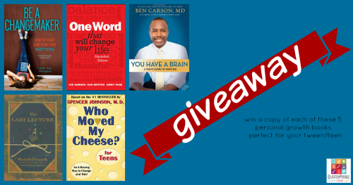 Giveaway runs from 1/14/16-1/20/16. Win a Copy of the 5 Personal Growth Books our Teens are Reading in January . We want you and your middle school students to join our 2016 reading adventure. Great teen reading list, checklist.