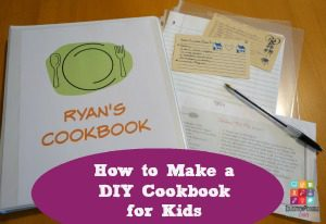 How to Make a DIY Cookbook for Kids As we have mentioned before, getting your middle school kids cooking is important! Cooking is an essential life skill kids need before they move out on their own. We have found that it is easy to begin to get kids involved in the kitchen by having them help prepare holiday meals, slow cooker meals, or a simple breakfast recipe. It's a great idea, that as you identify these favorite recipes, have your kids begin collecting them to make a DIY Cookbook.