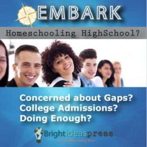 Are you Homeschooling High School or soon will be? You'll definitely want to check out Embark, a 3-day webinar event dedicated to homeschooling high school. During the event, you'll have live access to sessions taught by veteran homeschooling parents, homeschool graduates, and field experts. Also, each presentation will be recorded so you can go back and review or catch up with anything you miss.