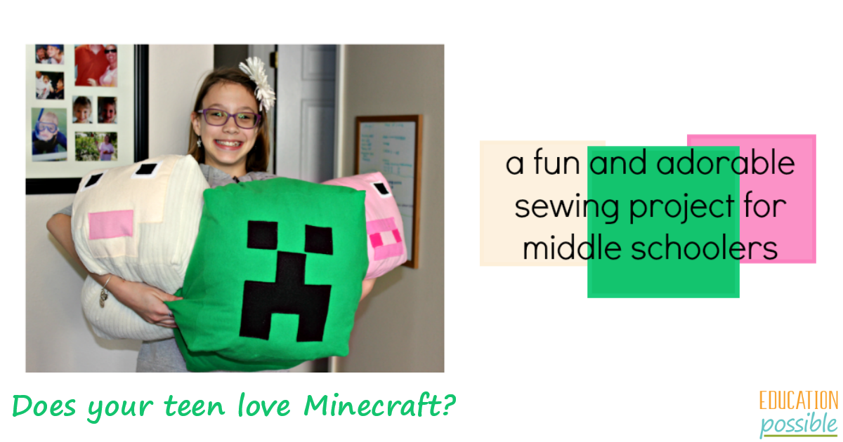 Easy Minecraft Sewing Projects for Teens: Minecraft Stuffies