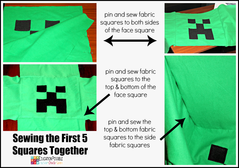An Easy Sewing Project for Teens who Love Minecraft  Does your middle schooler love Minecraft? Have you been looking for a way to build your young teen's sewing skills? Now you can combine the two with these adorable stuffed Minecraft characters.  DIY tutorial - fun sewing idea for kids.