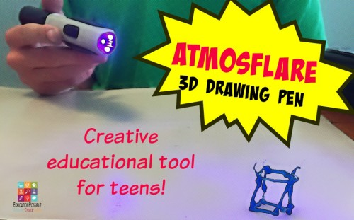 "d ""hands-on"" as your kids move into their teen years? We have found a cool and affordable tool to help make teens' math, art, science, and history lessons come to life. It is a 3D pen from AtmosFlare."