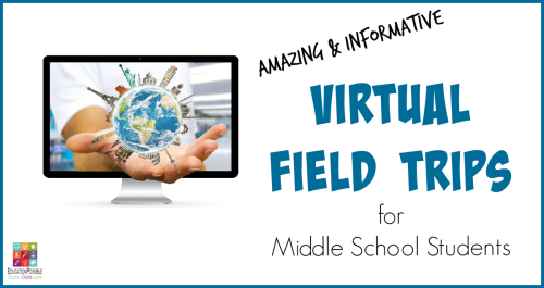 Let Your Teen Tour the World From Their Computer When you can't physically go on a field trip to experience a location or event, log on to one of these sites and take a tour from the comfort of home. Your middle schooler can start to discover all the locations and collections available to view remotely - virtual field trips. Perfect activities for homeschoolers.