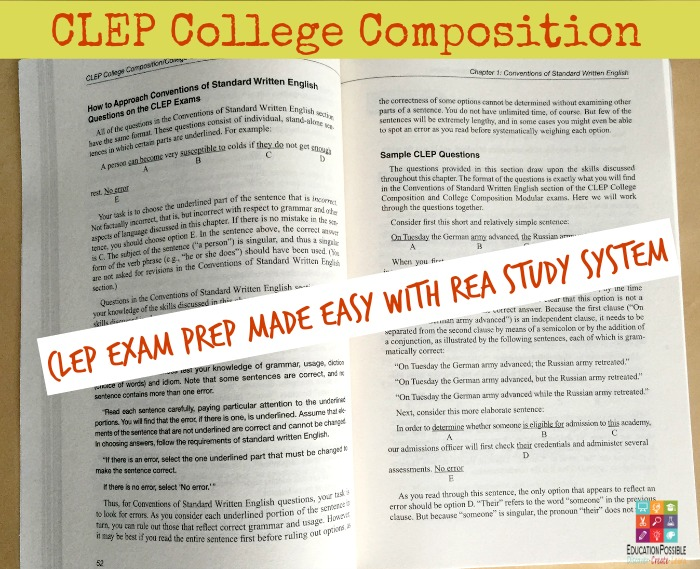 CLEP Test Prep - College Composition - Education Possible