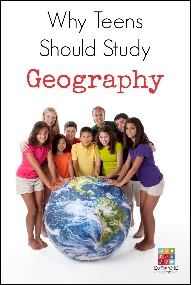 Geography is broad subject that encompasses the study of the earth, its structure, and everything that lives on it. Today, we are more connected than ever. Teens should study geography to help them understand and appreciate the world they live in. Middle school and high school students should take a geography course to understand and discuss the relationships of the people, places, and activities taking place on Earth. Atlases, cultures, maps, travel, and more.