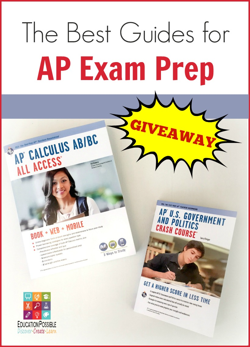 Best Guides for AP Exam Prep - GIVEAWAY ending 4/21/16  The AP exam process can be challenging for your high school student, but there is good news!  Students can easily create a focused AP exam prep plan based on their specific subject knowledge and test taking strategies.  These guides are perfect for homeschooled high schoolers.