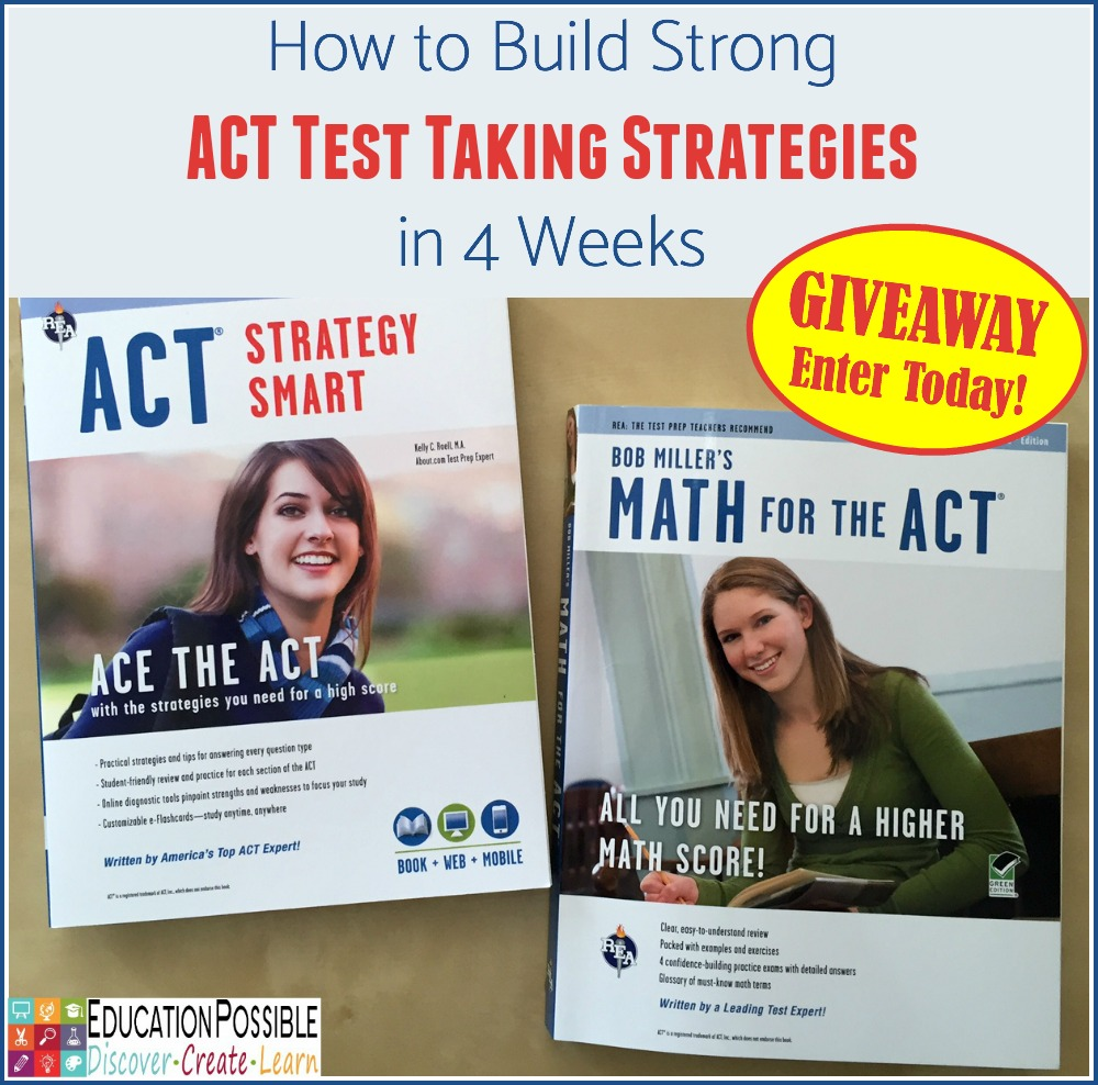 Build ACT Test Taking Strategies - GIVEAWAY - Education Possible