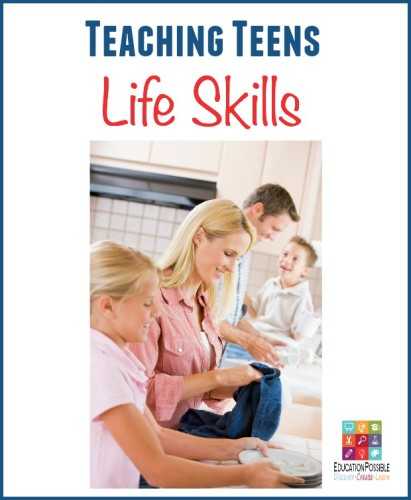 When we talk about life skills with our teens we mean all of the things that will help to make them successful and independent adults. Most of the skills teens need to learn are things that we, as adults, do every day.  Activities such as preparing lunch or doing laundry have become so routine we usually do them without even thinking about them.  As parents we can help to teach our teens life skills by being mindful of the daily life lessons we complete each day and actively involving our teens.