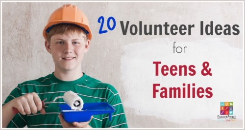 Teen volunteer ideas
