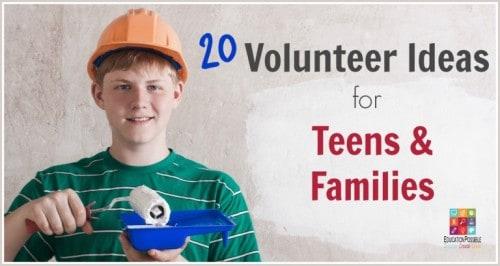 Teen volunteer ideas