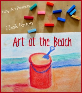 5 Beach Crafts & Activities for Middle Schoolers  If your kids are looking for a fun and very colorful art project be sure to give chalk art a try! Check out our favorite find easy-to-follow chalk art tutorials for sand buckets, start fish, manatee, sea turtles and more. Great DIY idea!