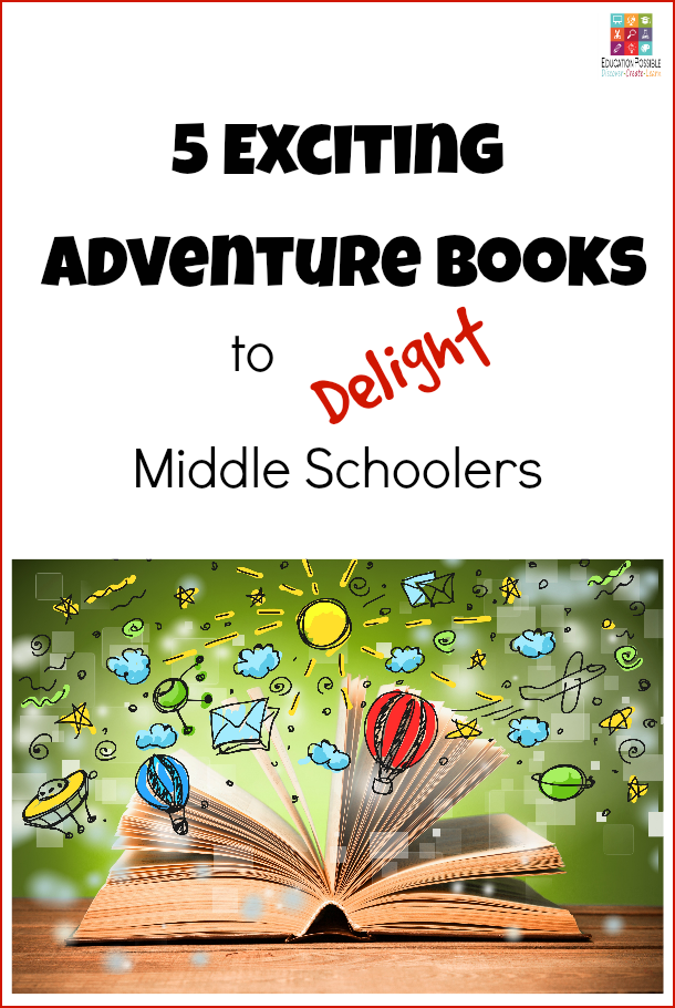 Capture your child's imagination with adventure books for teens. These novels deserve a spot on all junior high reading lists. My middle schoolers can't wait to read #4! Young Teen Reading Adventure