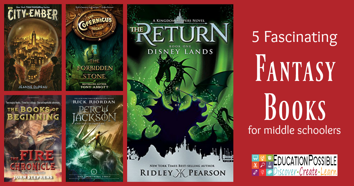 We're focusing on YA Fantasy books as part of our 2016 Reading Adventure. Fantasy books are full of magic, unique creatures, and magical lands. This genre is one of my teen's absolute favorites. She loves how fantasy books transport her to another time and place, and that they're full of challenging and dangerous quests. These 5 are perfect for middle schoolers!